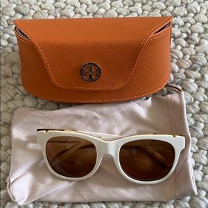Tory Burch White Sunglasses